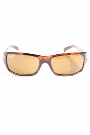 Ray Ban Occhiale da sole spigoloso color carne-marrone stampa integrale