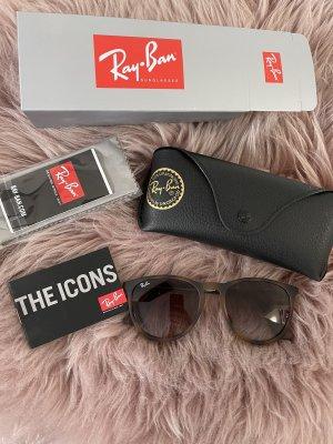Ray Ban Owalne okulary przeciwsłoneczne brązowy-jasnobrązowy Szkło