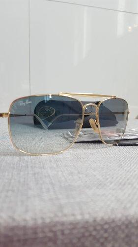 Ray Ban Gafas de sol cuadradas color oro-azul celeste metal