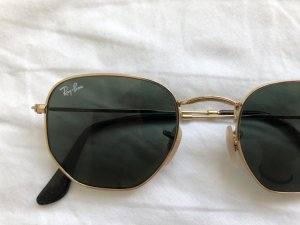 Ray Ban Oval Sunglasses neon yellow-forest green acetate