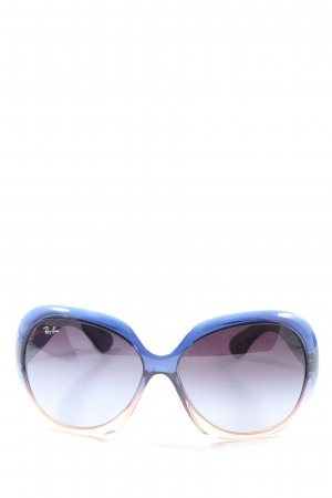 Ray Ban Square Glasses blue-cream color gradient casual look
