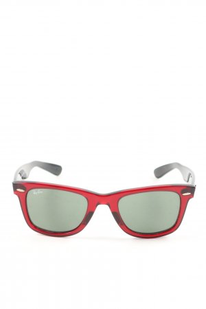 Ray Ban Karée Brille schwarz-rot Motivdruck Casual-Look