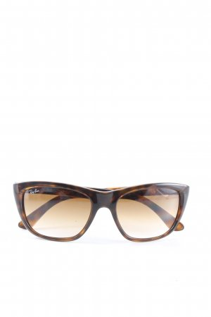 Ray Ban Vierkante bril zwart-licht Oranje volledige print casual uitstraling