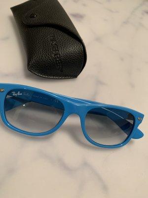 Ray Ban Angular Shaped Sunglasses light blue