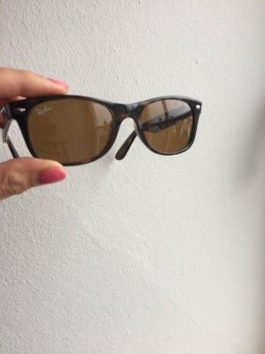 Ray Ban Angular Shaped Sunglasses taupe mixture fibre