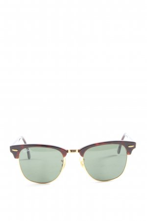 Ray Ban Oval Sunglasses brown casual look