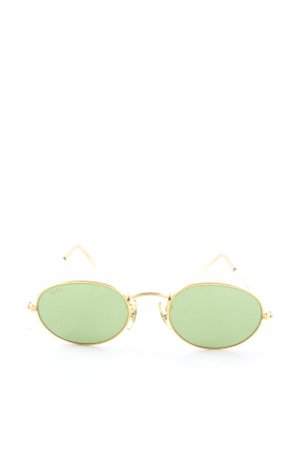 Ray Ban Oval Sunglasses gold-colored-khaki casual look