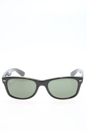 Ray Ban ovale Sonnenbrille schwarz-khaki Casual-Look