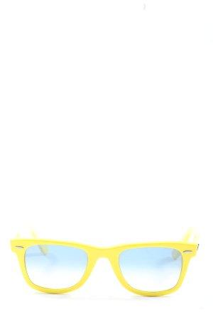 Ray Ban Gafas de sol cuadradas amarillo pálido look casual