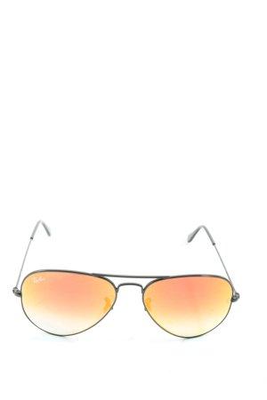 Ray Ban Gafas de sol ovaladas amarillo pálido-negro look casual