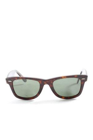 Ray Ban Gafas de sol cuadradas marrón estampado con diseño abstracto