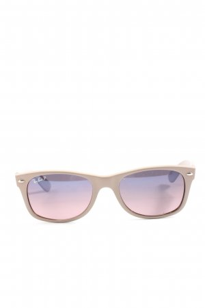 Ray Ban ovale Sonnenbrille wollweiß Casual-Look