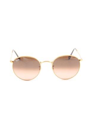 Ray Ban ovale Sonnenbrille goldfarben-bronzefarben Farbverlauf Casual-Look