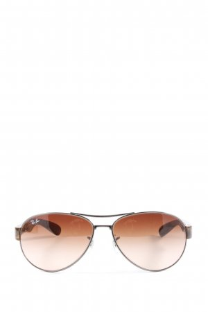 Ray Ban ovale Sonnenbrille braun abstraktes Muster Casual-Look