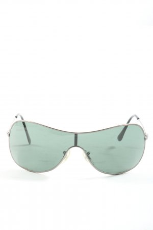 Ray Ban ovale Sonnenbrille hellgrau Casual-Look
