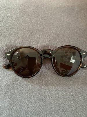 Ray Ban Lunettes de soleil ovales brun-noir verre
