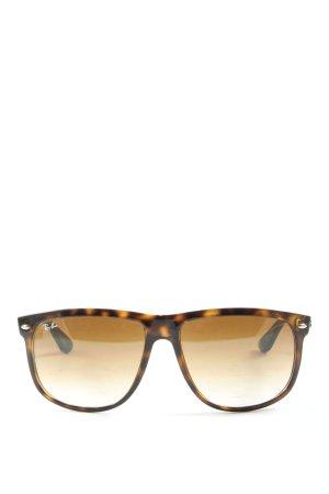 Ray Ban Gafas de sol ovaladas marrón-negro estampado de leopardo look casual