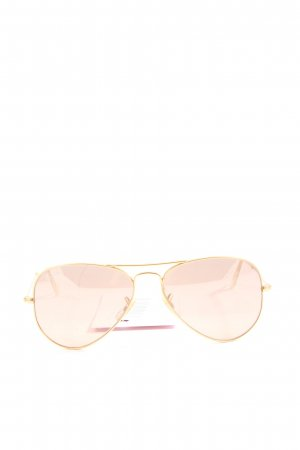 Ray Ban ovale Sonnenbrille goldfarben Casual-Look