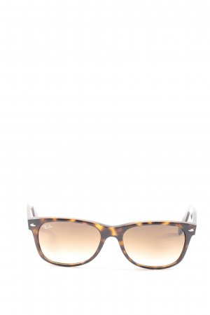 Ray Ban Oval Sunglasses brown allover print casual look