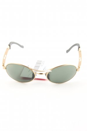 Ray Ban ovale Sonnenbrille khaki-goldfarben Casual-Look
