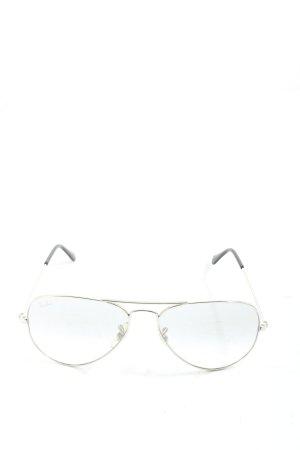 Ray Ban Gafas de sol ovaladas color plata-negro look casual