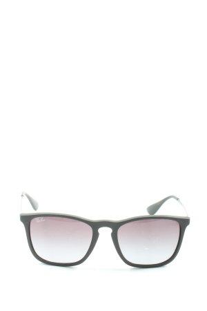 Ray Ban Vierkante bril zwart-lichtgrijs prints met een thema casual uitstraling
