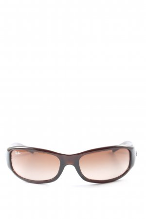 Ray Ban ovale Sonnenbrille braun Motivdruck Casual-Look