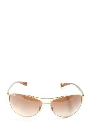 Ray Ban Gafas de sol ovaladas marrón-naranja claro look casual