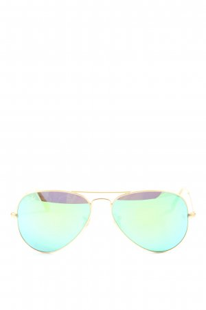 Ray Ban Gafas de piloto color oro-turquesa look casual