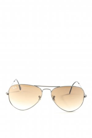 Ray Ban ovale Sonnenbrille nude-silberfarben Casual-Look
