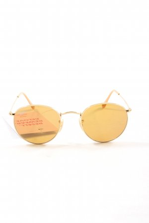 Ray Ban Round Sunglasses gold-colored-nude casual look