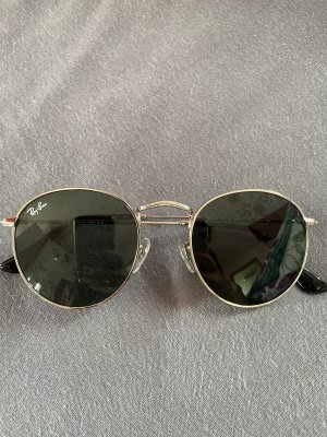 Ray ban ovale sonnenbrille silber