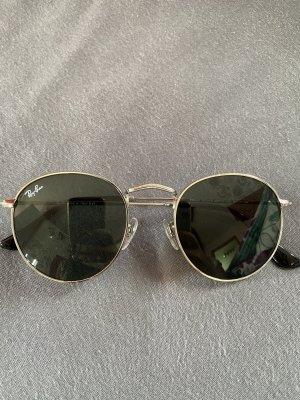 Ray Ban Lunettes de soleil ovales argenté-gris verre