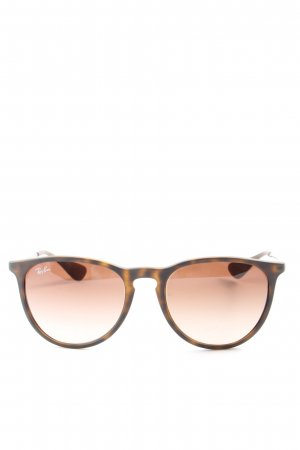 Ray Ban Panto Brille braun Leomuster Casual-Look