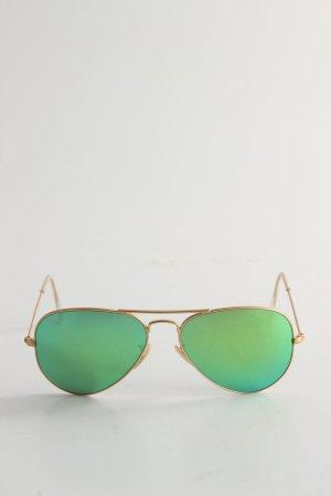 Ray Ban Pilot Brille grün-goldfarben Casual-Look