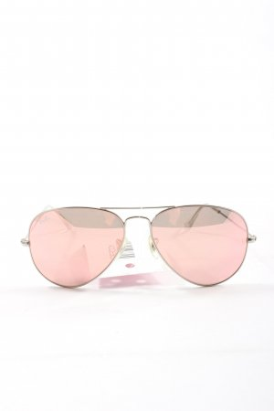 Ray Ban Pilot Brille pink-silberfarben Casual-Look