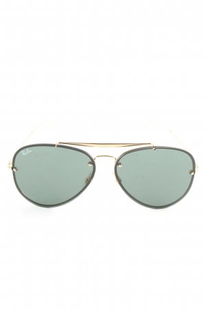 Ray Ban Pilot Brille grün-goldfarben Casual-Look