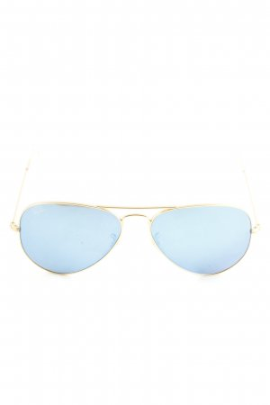 Ray Ban Pilot Brille blau-goldfarben Casual-Look