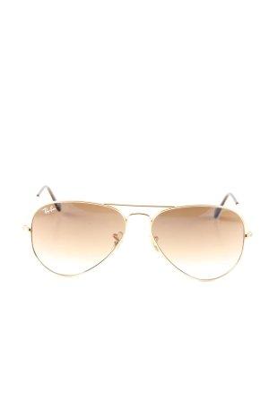 Ray Ban Aviator Glasses brown casual look