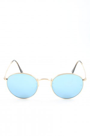 Ray Ban Pilot Brille goldfarben-blau Casual-Look