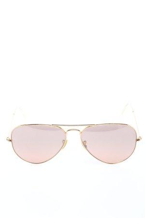 Ray Ban Pilot Brille goldfarben Schriftzug gedruckt Casual-Look