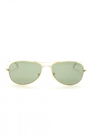 Ray Ban Pilot Brille goldfarben-hellgrau Casual-Look
