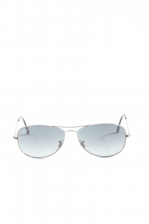 Ray Ban Gafas de piloto negro-color plata look casual