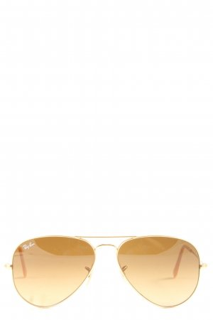 Ray Ban Gafas de piloto color oro look casual