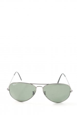 Ray Ban Gafas de piloto color plata look casual