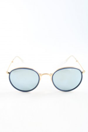 Ray Ban Aviator Glasses blue-gold-colored casual look
