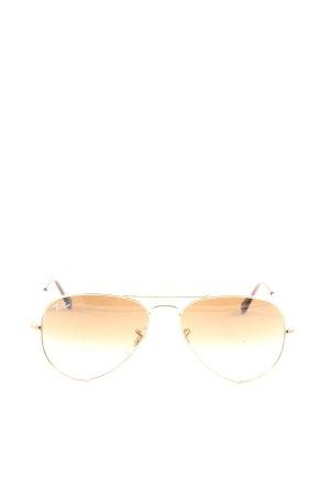 Ray Ban Okulary pilotki złoto-brązowy W stylu casual