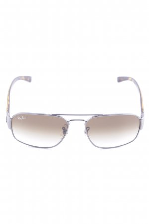 Ray Ban Pilot Brille braun-goldfarben Leomuster Casual-Look