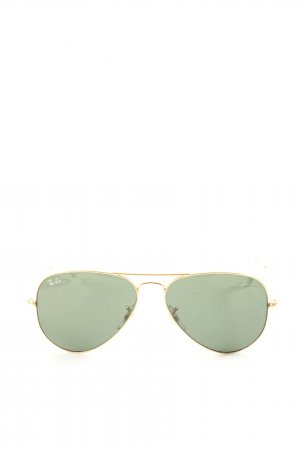 Ray Ban Pilot Brille goldfarben-grün Casual-Look