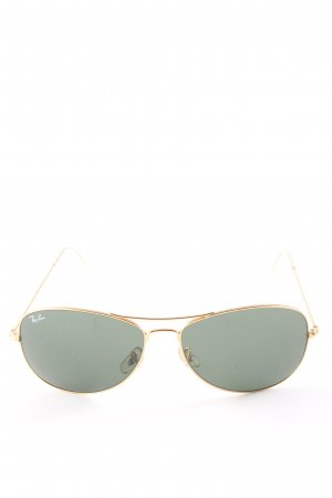 Ray Ban Gafas de piloto caqui-color oro estilo «business»